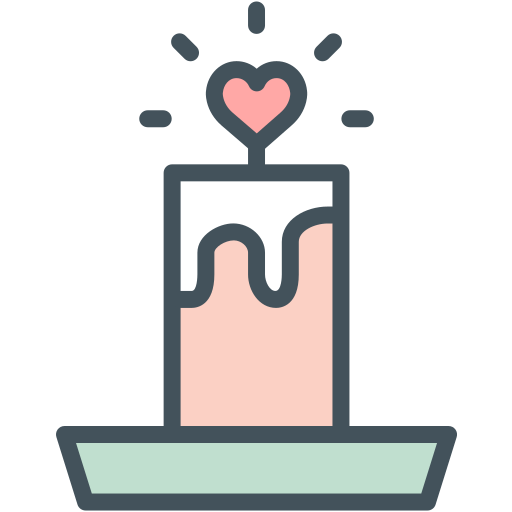 candle, love icon