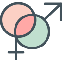 female, male, sign icon