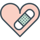heart, heartbroken, plaster icon