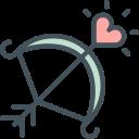 bow, cupid, love, romance, valentines icon
