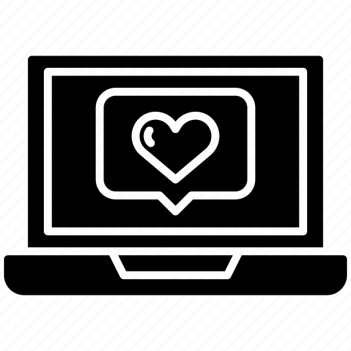 Device, electronic, info, laptop, love, notification, valentine icon - Download on Iconfinder