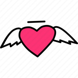 angel, cupid, day, heart, love, romance, valentines icon
