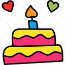 cake, celebrate, day, love, romance, valentines icon