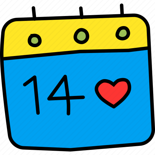 calendar, date, day, event, love, romance, valentines icon