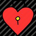 day, heart, keyhole, lock, romance, valentines