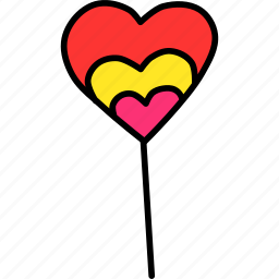 candy, day, heart, lollipop, romance, sweet, valentines icon