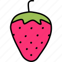 fruit, love, romance, romantic, sex, strawberry icon