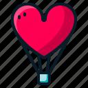 air, balloon, heart, love, valentine