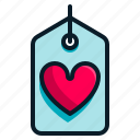 heart, love, sale, shopping, tag, valentine