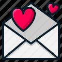 heart, letter, love, mail, message, valentine