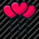balloon, heart, love, romantic, valentine