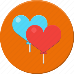 baloons, heart, hearts, love, party, valentines icon