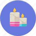 candels, light, love, romantic, valentines icon