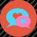 chat, heart, love, talk, valentines icon