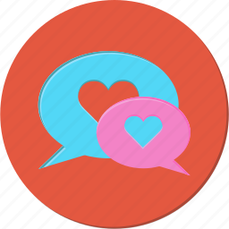chat, heart, love, talk, valentines icon