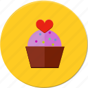 cakes, candy, cup, delicius, heart, love, valentines icon