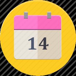 calendar, date, love, valentines icon