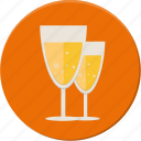 alkohol, champaigne, drink, love, toast, valentines icon