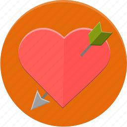 arrow, heart, love, valentines icon