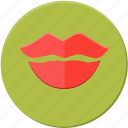 kiss, lips, love, mark, sex, valentines icon