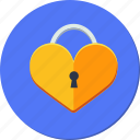 heart, key, lock, love, valentines icon