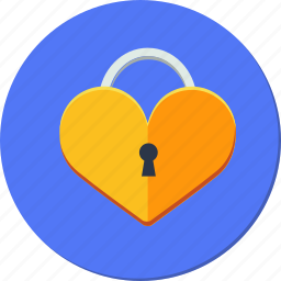 heart, key, lock, love, valentines icon