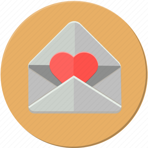 card, heart, love, mail, message, post, valentines icon