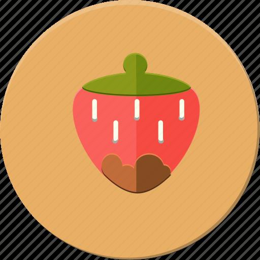 delicius, food, fruit, love, romantic, strawberry, valentines icon