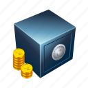 bank, coin, gold, monetary, money, treasure, vault icon