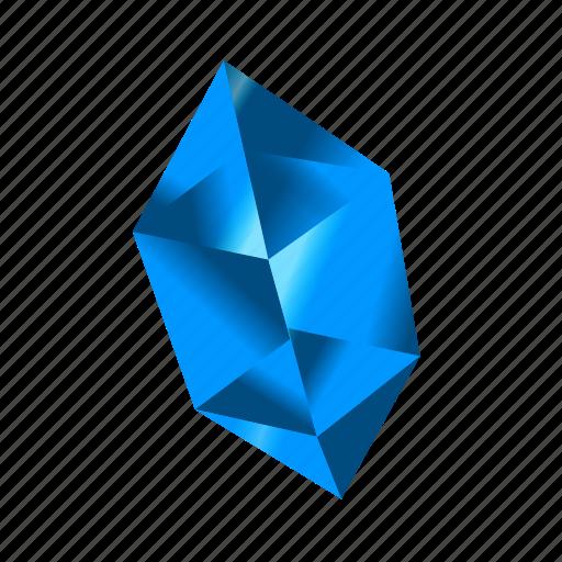 blue, crystal, gem, mineral, money, stone, treasure icon