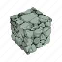 cube, mineral, mining, rock icon