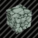 cube, mineral, mining, rock