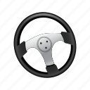 car, drive, pilot, race, racing, steering, wheel icon
