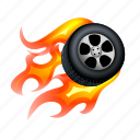 fast, fire, furious, power, race, super, tire icon