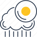 cloud, rain, sun, vankuver, weather icon