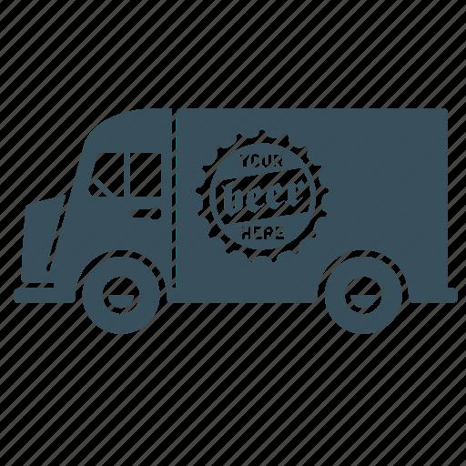 Beer, delivery, transport, truck, van, vehicle icon - Download on Iconfinder