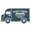delivery, hotdog, transport, truck, van, vehicle icon