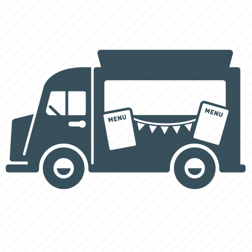 delivery, food, transport, truck, van, vehicle icon