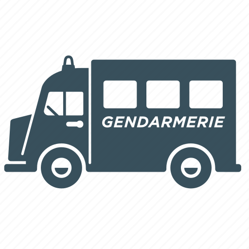 delivery, police, transport, truck, van, vehicle icon