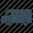beer, delivery, transport, truck, van icon