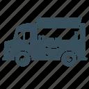 delivery, hotdog, transport, truck, van