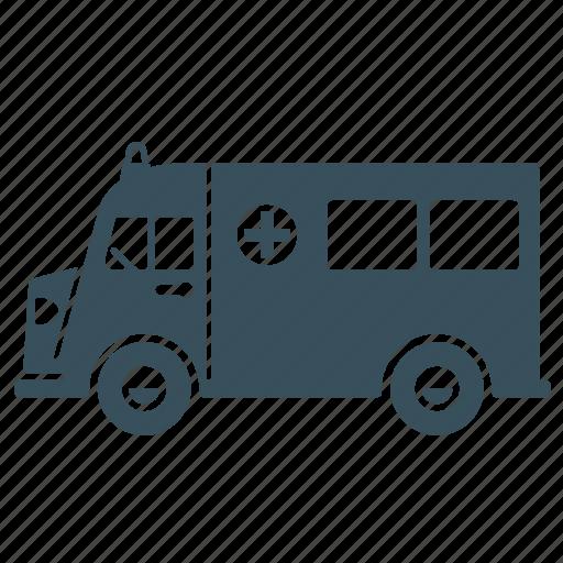 ambulance, delivery, hospital, transport, truck, van icon