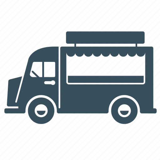 delivery, food, transport, truck, van icon