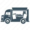 delivery, food, transport, truck, van, vehicle