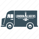 beer, delivery, transport, truck, van, vehicle icon