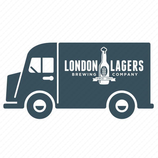 beer, delivery, transport, truck, van, vehicle icon
