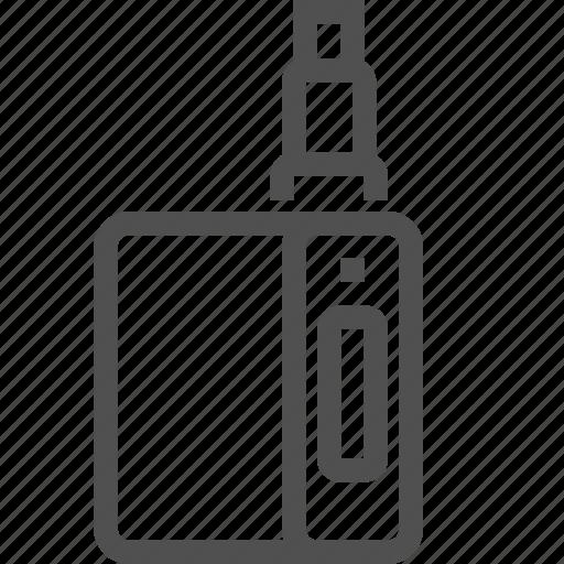 battery, cigarette, electronic, mod, rda, vape icon