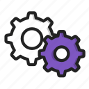cog, gear, gears, machine, setting icon