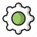 cog, gear, green, setting icon