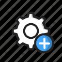 add, new, setting, upload icon